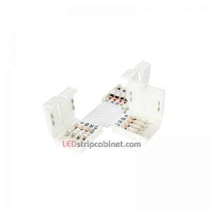 T-Shaped RGB LED Strip 10mm 4-Pin Corner Junction Clip Connector