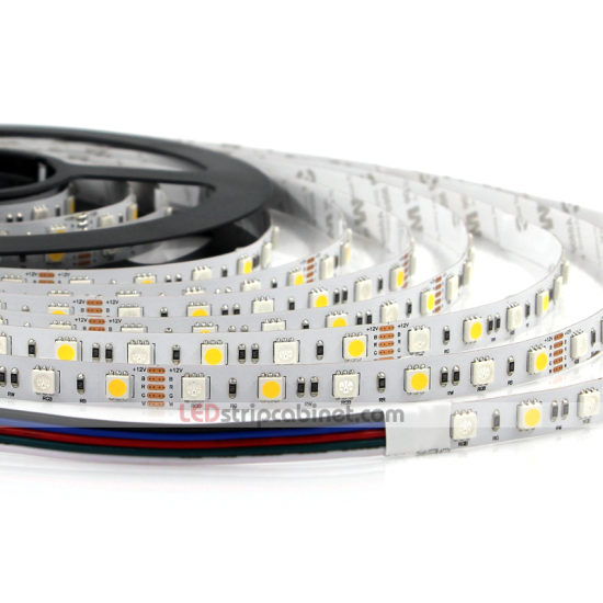 RGBW LED Strip 12V w/ White and Multicolor LEDs,265 Lumens
