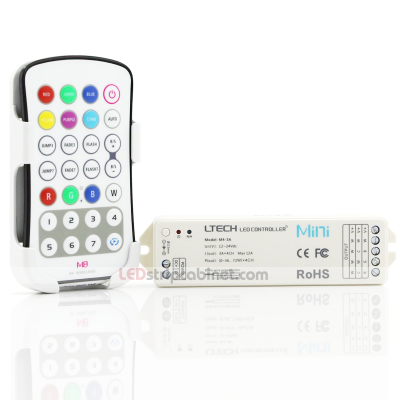 RGBW RF LED Controller Bespoke Colour (Colour Save) with Remote