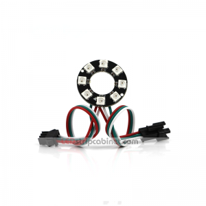 NeoPixel Ring - 8 X 5050 RGB LED With Integrated Drivers
