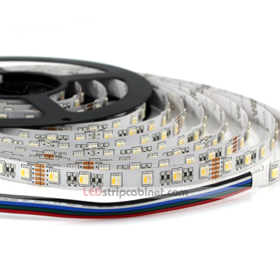 RGBW LED Strip w/ White and Multicolor LEDs,430 Lumens/ft - 24V