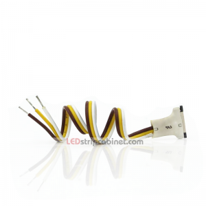 3 Contact 10mm Flexible Light Strip Pigtail Connector