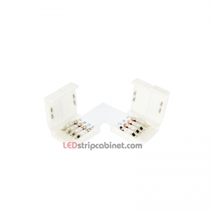 10MM L Right Corner Solderless Connetors For RGB LED Light Strip