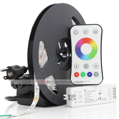 RGB LED Strip Light Kit - 12V LED Tape Light,244 Lumens/ft.