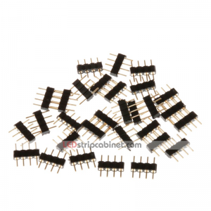 4 Pin Connector Male for RGB LED Strip Lights - 30pcs