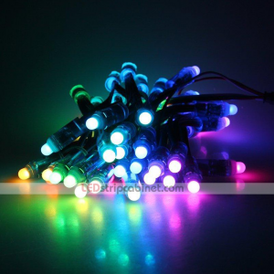 12mm Diffused Digital RGB LED pixel string light 50pcs