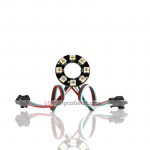 NeoPixel Ring-8 x 5050 RGBW LED w/Integrated Drivers,Warm White ~ 3500K