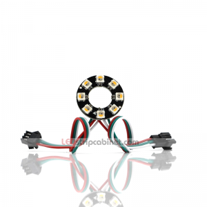 NeoPixel Ring-8 x 5050 RGBW LED w/Integrated Drivers,Warm White