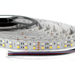 Dual Row RGBW LED Strip Lights 24V w/ White and Multicolor LEDs