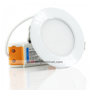 6W RGB+CCT LED Downlight Fixture - Dimmable - 600 Lumens